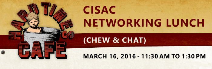 CISAC March 16th Chew & Chat